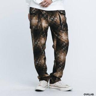 🚚 Ovklab 馬賽克 軍褲 雙口袋 Wool Utility Trousers l號