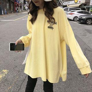 🚚 yellow super oversized tumblr ulzzang korean pullover sweater long sleeve
