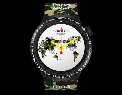 Swatch x Bape Big Bold Bape The World