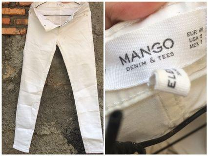 White jeans by MANGO