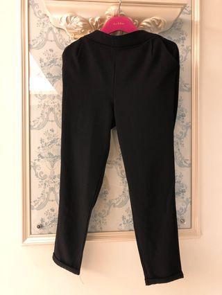 🚚 西裝褲 鬆緊腰薄款 黑 size xs-s 附口袋