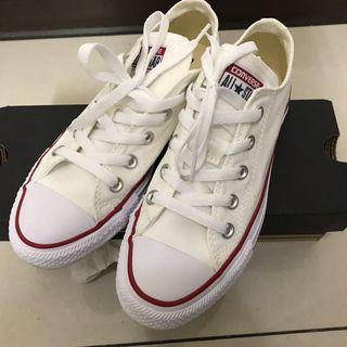 Converse 白色基本款帆布鞋 23cm