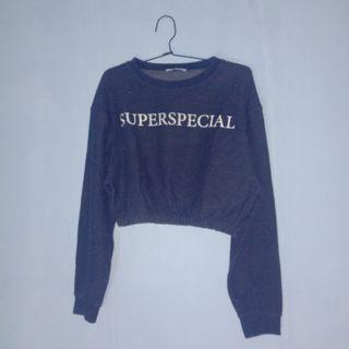 Zara Trf Crop Top Sweatshirt Superspecial