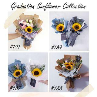 Graduation Bouquet Sunflower | Flower Delivery | Convocation 2019 | Can Be Customized | Message Card Included
