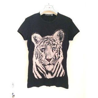 "D&G D&G Dolce & Gabbana  --  ""Tiger"" Printed T-SHIRT 印花短袖衫   *Size : 44 @Made in Italy意大利製造"