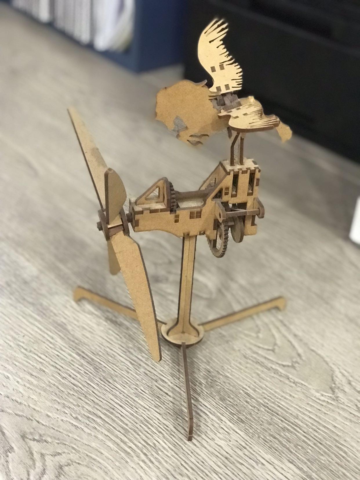 3D wooden laser cut flying Pegasus (DIY)