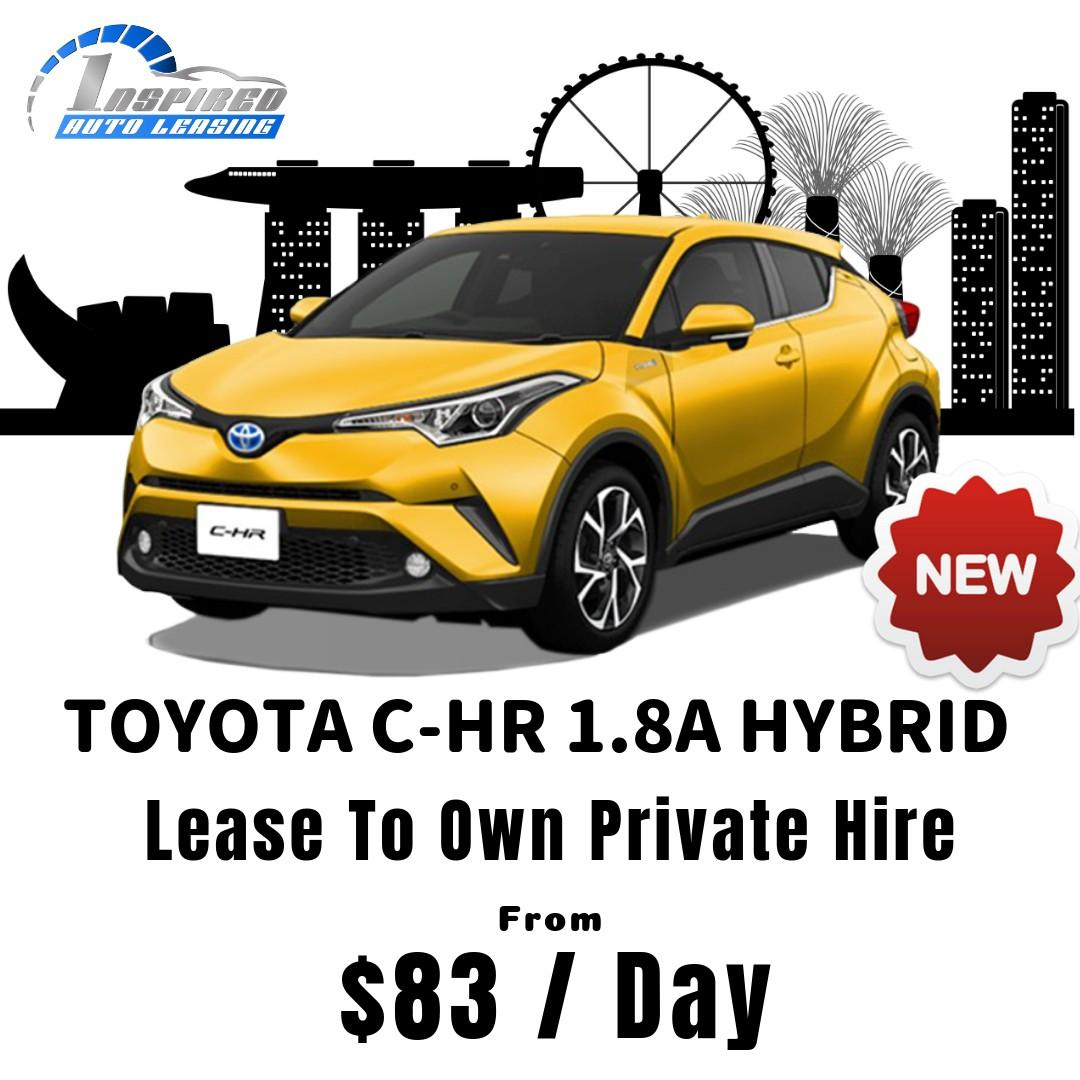 [ Brand New ] TOYOTA C-HR 1.8A HYBRID * Lease To Own *