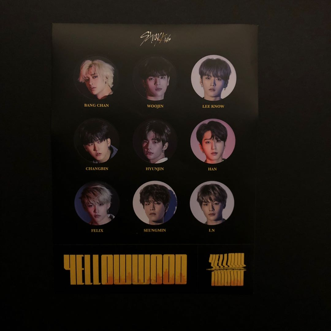 [ WTS ] Stray Kids Yellow Wood Pre-order Benefit - Sticker