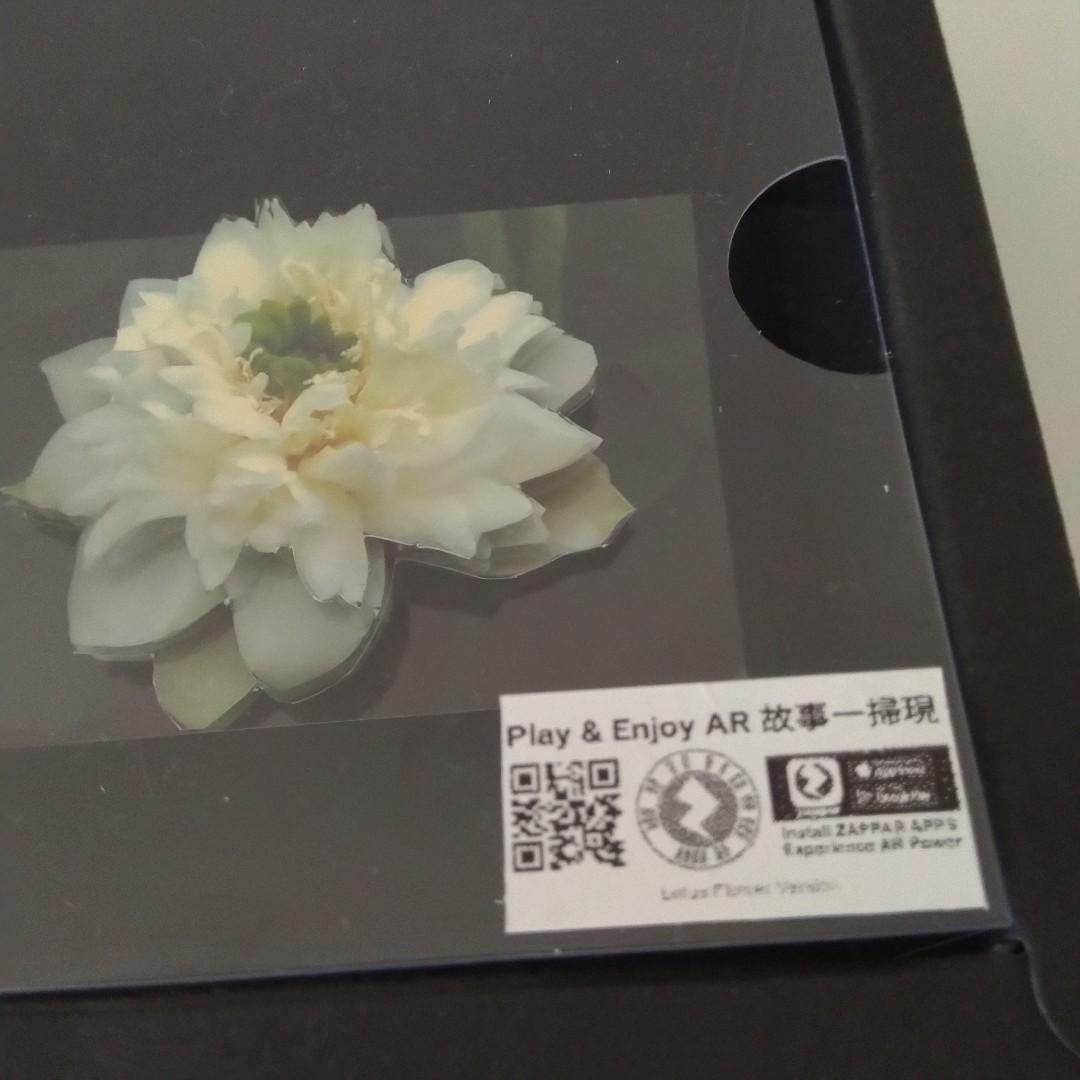 荷花AR立體紙雕 Lotus AR Paper Tole (11cmx11cmx4.5cm)