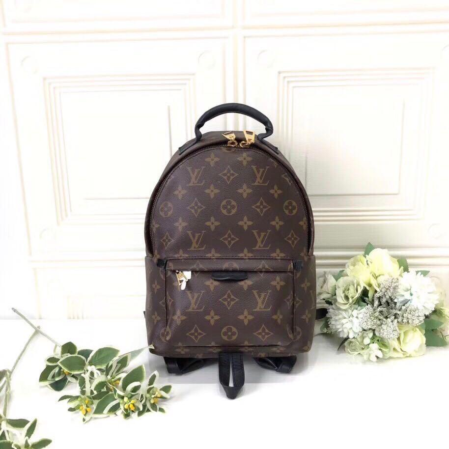 Authentic Pre-loved Louis Vuitton Palm Springs PM Monogram Canvas Backpack