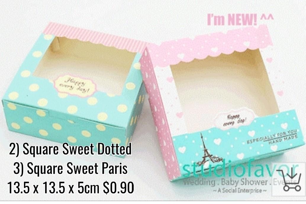 Korean / Japanese Style / Cake / Cookie / Thank You / Children Party / Goodie Box / Gift Box / Children Party  Box / Goodie Box - Bake / Baking / Mooncake