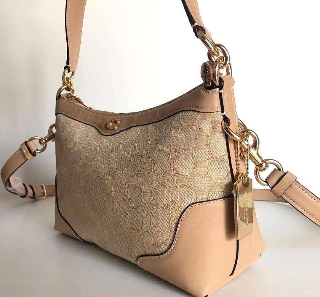 Coach F46285 ivie small shoulder bag sign beechwood size 28 x 20 cm