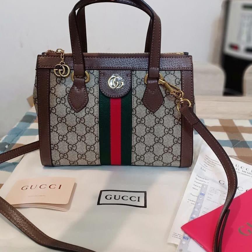 Gucci Ophidia ORI bahan kulit asli totebag with serial number, ini asli cantik bgeeettt 😍