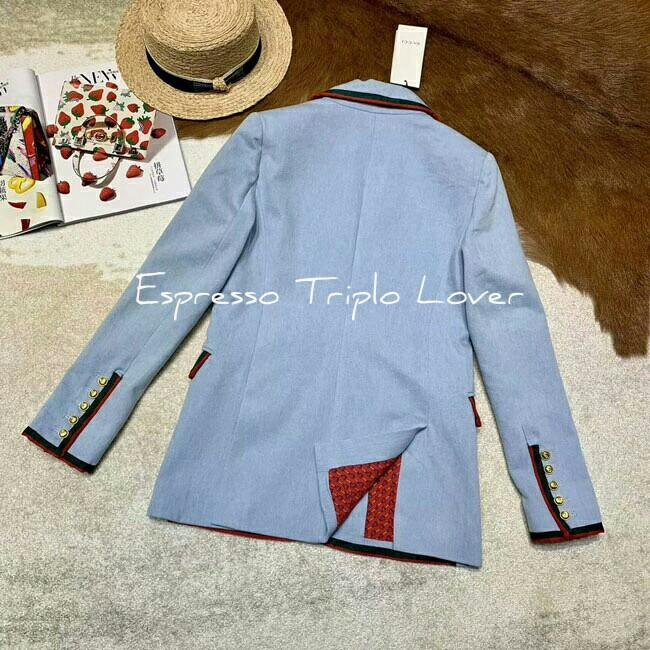 [G•Ü•Ç•Ç•!]Women Denim Embroided Long Sleeve Blazer[K060710] #JUNEPAYDAY60