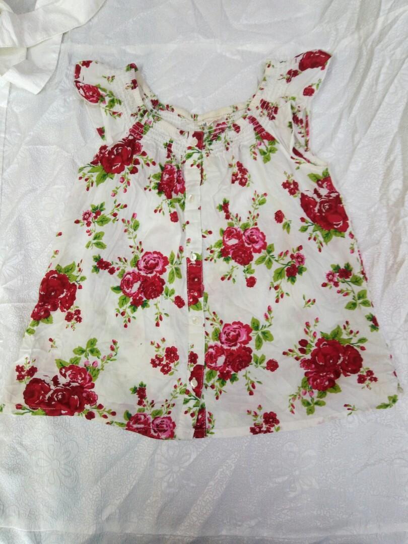 H&M Girls Floral Sleeveless Top