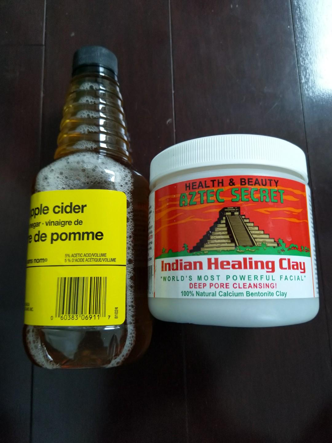 Indian Healing Clay & Apple Cider Vinegar (only used once)