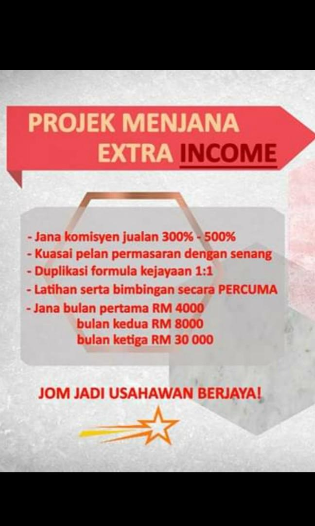 Interested in passive and active side income in short time, PM untuk info lanjut