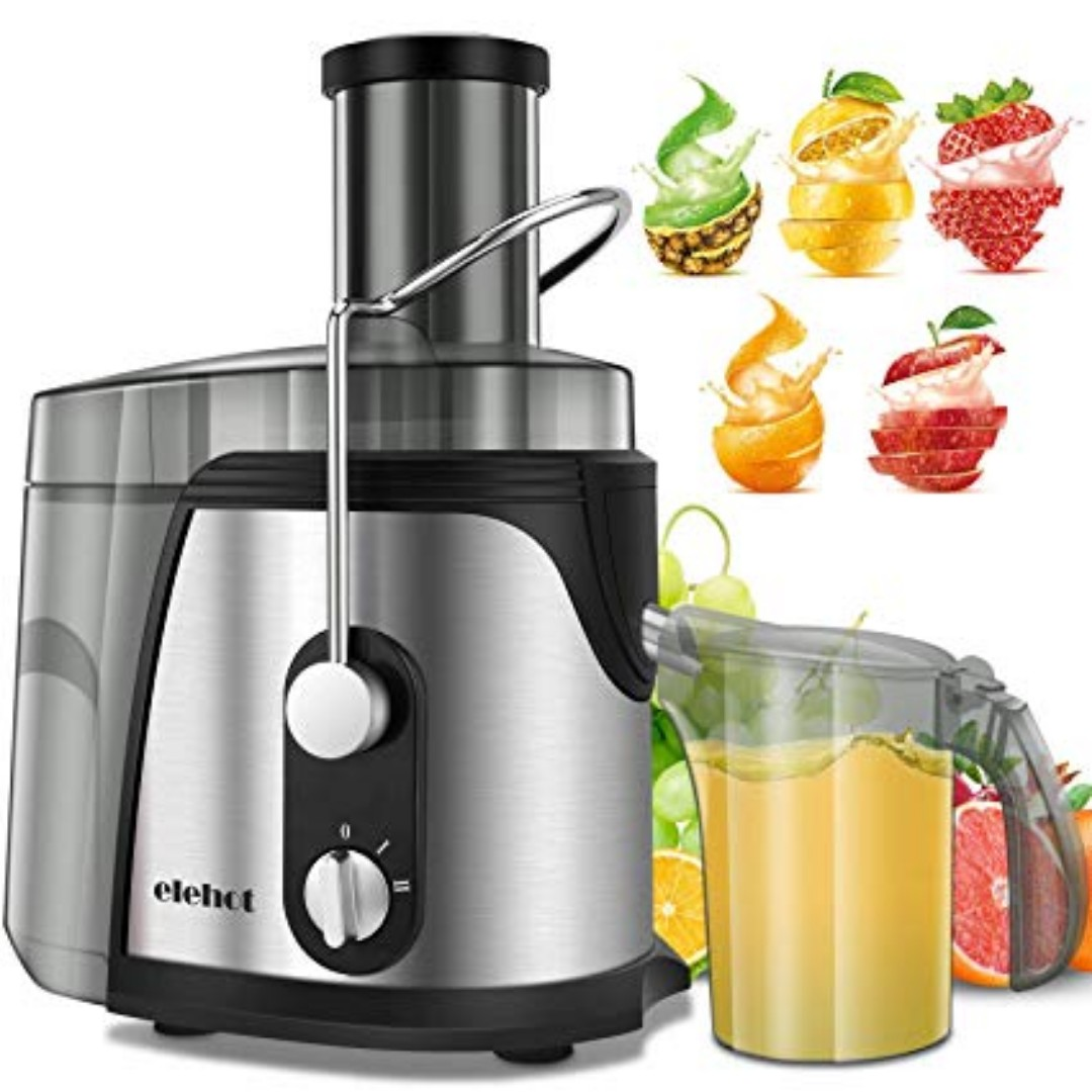 K058 Elehot Juicer Machine Juice Extractor 700 Watt Wide Mouth