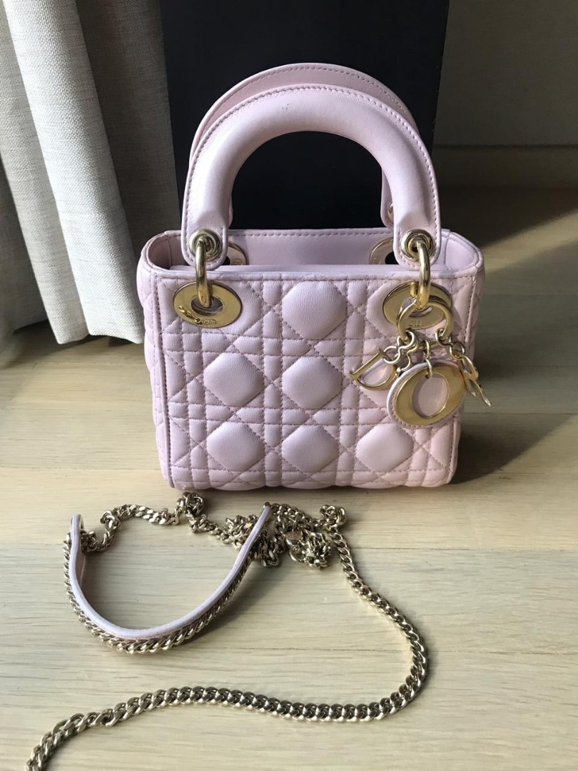 Lady Dior Mini 2017  bag strap and db ,REPRICE LAGIII Note : Minor defect , body touch up