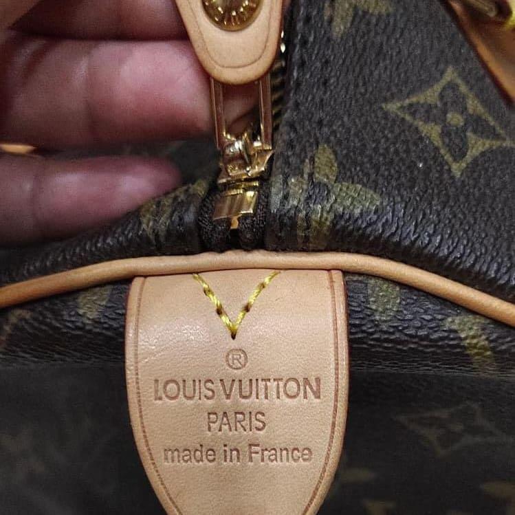 Louis Vuitton Speedy mono ori leather with serial number full set yaaa