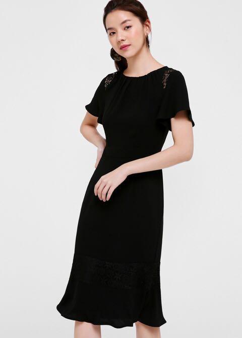 Love Bonito Odina Lace Trim Midi Dress