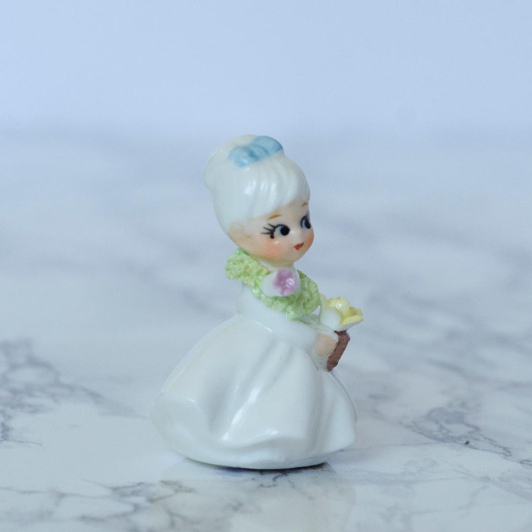 Napcoware bone china flower of the month girl March