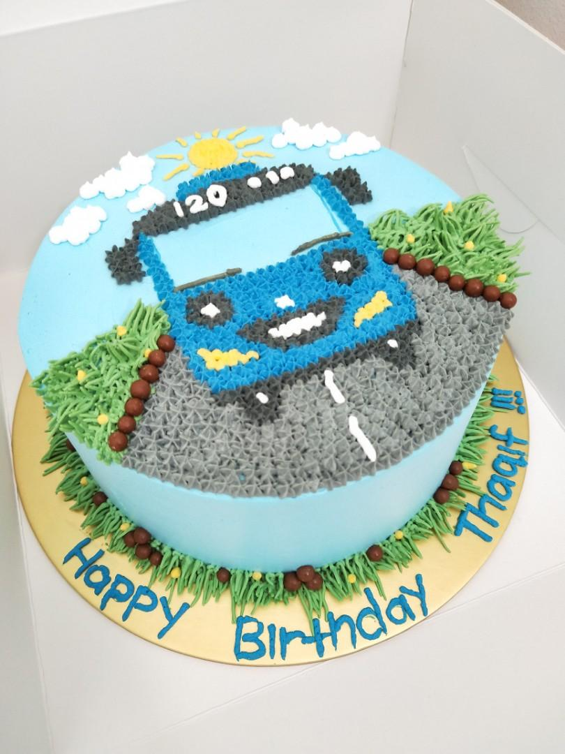 Remarkable Offer Tayo Bus Kids Birthday Cake Food Drinks Baked Goods On Funny Birthday Cards Online Barepcheapnameinfo
