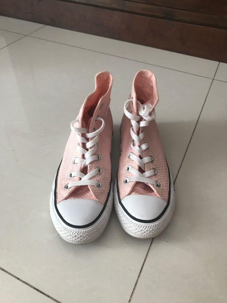 Pastel Pink Converse Sneakers, Women's