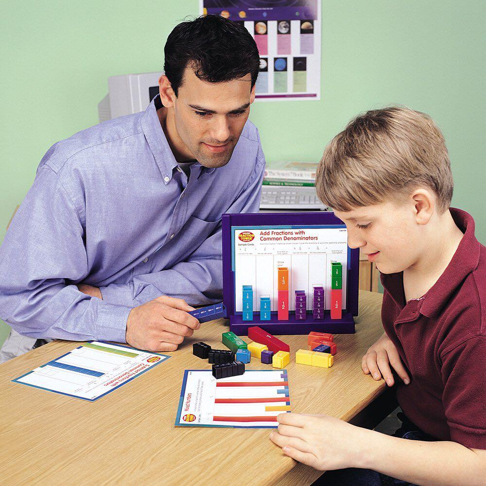 IN STOCK: Learning Resources Deluxe Fraction Tower Set