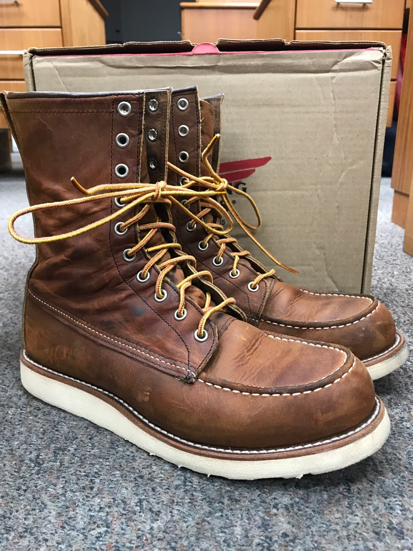 eddf24d71d3 Red Wing Heritage Boots MOC 8inch 8830 US8.5D Copper Rough n Tough