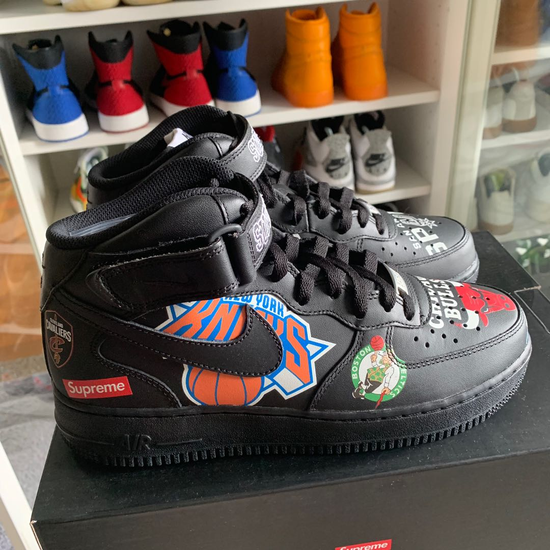 finest selection 72baa 0cfe0 Supreme X NBA X Nike Air Force 1 Mid 07 Black BNIB