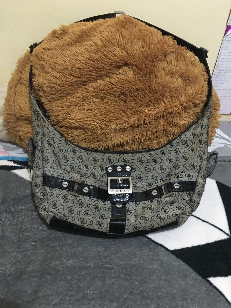 Tas guess original kulit mix kanvas