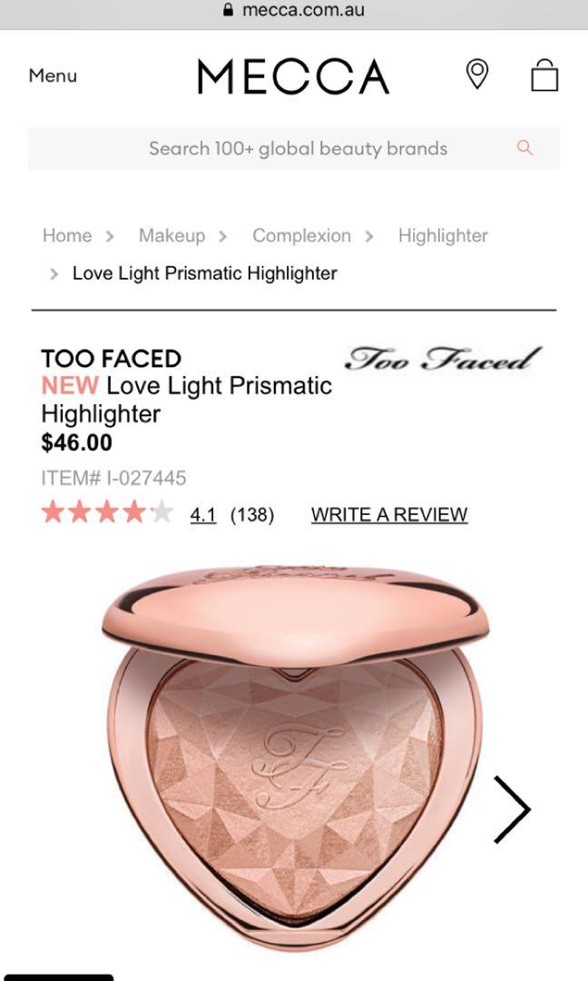 Too Faced Love Light Prismatic Highlighter - 'Ray of Light'