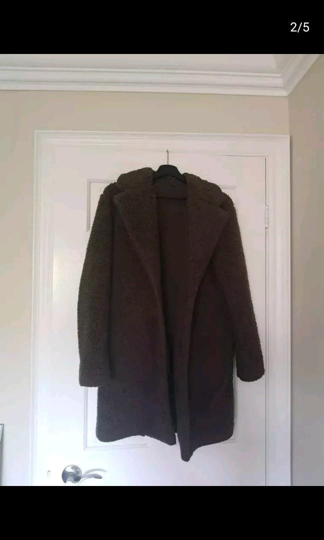 uniqlo teddy coat