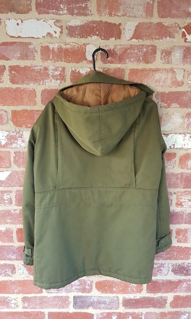 Vintage Korean Field Military Jacked Hooded Parka M Mens