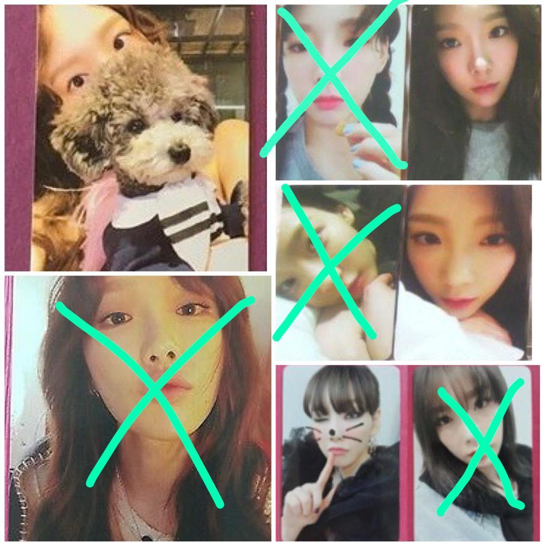 [WTB/LF] Taeyeon Something New / My Voice Official Photocard