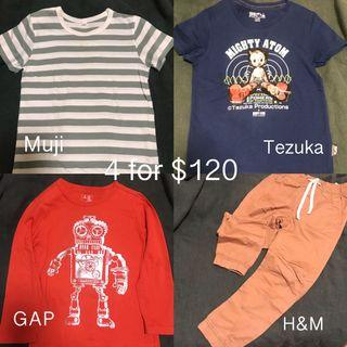 H&M pant size122 and Gap Muji T-shirt for kids size 120