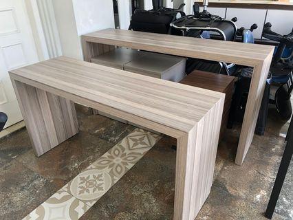Meja kayu 2 set