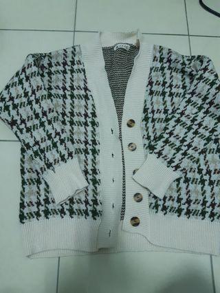 針織千鳥紋外套