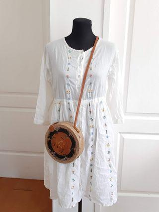 Bohemian Style Dress Beach Wear white dress