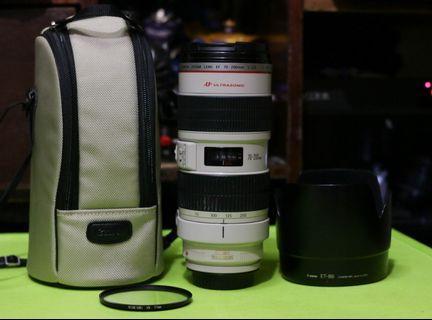 Canon 70-200mm f2.8L IS USM Ver I (Pristine condition).