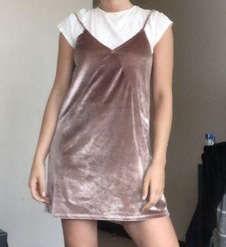 Pull and bear dress NEVER WORN& white top