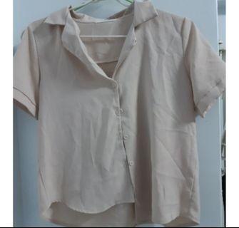 雪紡短袖襯衫