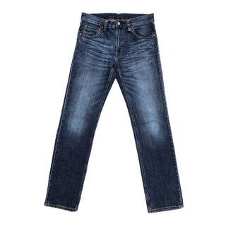 Muji Slim Fit Straight In Blue Fadding Washed
