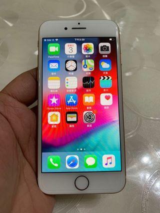 🚚 IPhone 8 奶茶金 64g 4.7吋 (IOS:12) 2018年機、極新~單機無盒、 原屏幕原彩、配件無耳機、IMEI及序號都正常、外觀完美如新、 無拆無摔無修無泡水、所有功能正常順暢。 電池健康度🔋87%