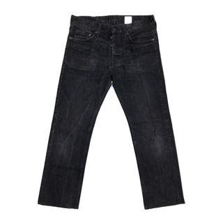 H&M Button Fly Slim Straight Fit Smoke Black Washed