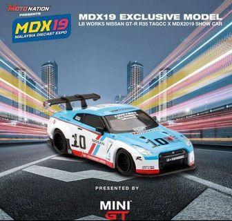 MINI GT 馬來西亞 Exclusive MDX19Nissan GT-R Liberty Walk BRE Racing Style