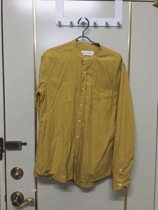 50%芥黃色立領襯衫