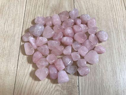 粉晶 46粒 2-3.5cm