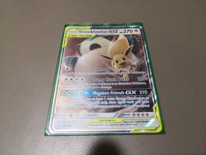 Eevee & Snorlax Tag Team GX Pokemon Trading Card Game TCG